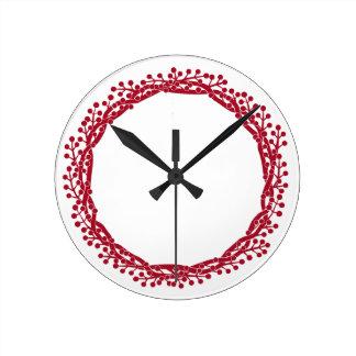果実のリースのデザイン ラウンド壁時計