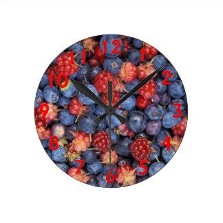 果実の歓喜 ラウンド壁時計