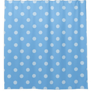 果実の青い水玉模様のシャワー・カーテン シャワーカーテン