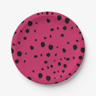 果実は紙皿に斑点を付けます ペーパープレート