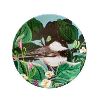 果実パッチの《鳥》アメリカゴガラ 磁器プレート