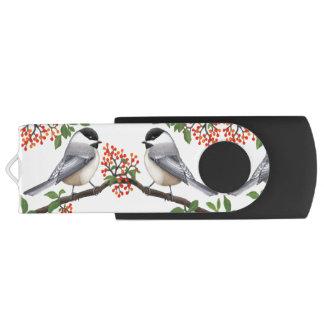 果実USBのフラッシュドライブを持つ《鳥》アメリカゴガラの鳥 USBドライブ
