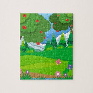 果樹園のりんごの木 ジグソーパズル