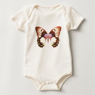 果樹園のアゲハチョウの蝶 ベビーボディスーツ