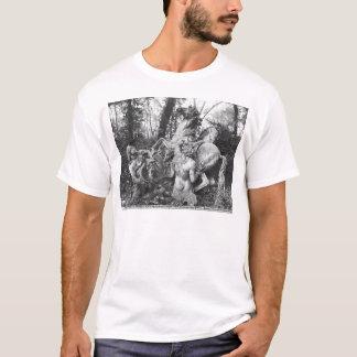 果樹園の太陽の2頭の馬に手入れをするトリトン Tシャツ