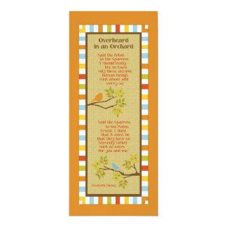 果樹園の(ロビン及びすずめ)しおりでふと耳にされる カード