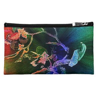 果樹(エメラルドの森林)の《鳥》ハヤブサ-化粧の場合 コスメティックバッグ