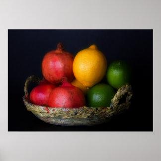果物かごポスター ポスター