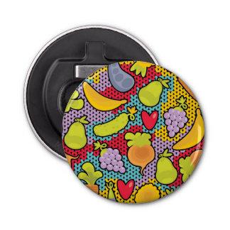 果物と野菜が付いているパターン 栓抜き