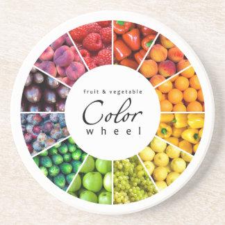 果物と野菜のカラーホイール(12色) コースター