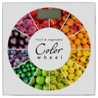 果物と野菜のカラーホイール(12色) 体重計