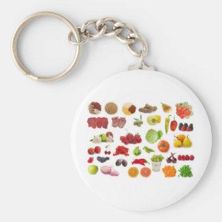果物と野菜の大きいコレクション キーホルダー