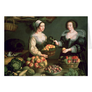 果物と野菜の販売人 カード
