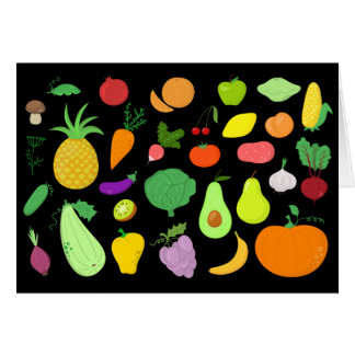 果物と野菜はメッセージカードを消します カード