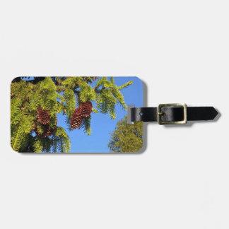 枝が付いている自然の森林写真の荷物のラベル ラゲッジタグ