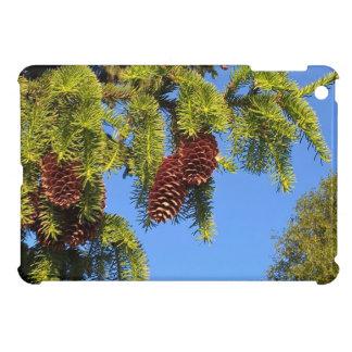 枝との自然の森林写真のiPadの小型場合 iPad Mini カバー