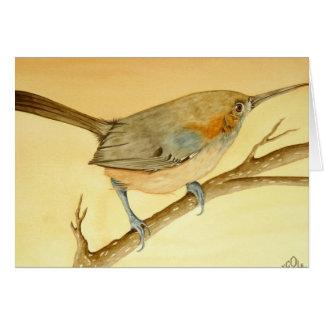 枝のブラジルのミソサザイ カード