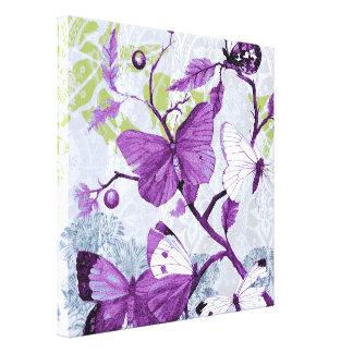 枝の紫色の蝶 キャンバスプリント