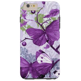 枝の紫色の蝶 TOUGH iPhone 6 PLUS ケース