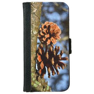 枝の自然恋人のマツ円錐形 iPhone 6/6S ウォレットケース