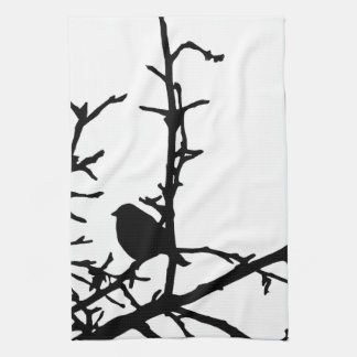 枝の鳥 キッチンタオル