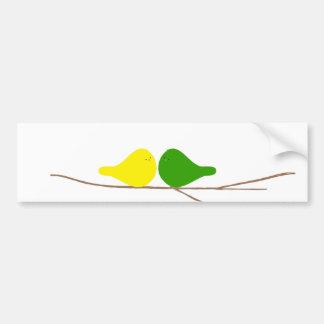 枝の鳥 バンパーステッカー