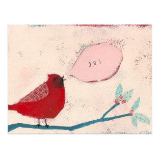枝カードの鳥 ポストカード