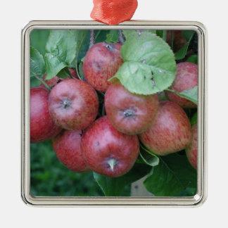 枝デザインのりんごの束 メタルオーナメント