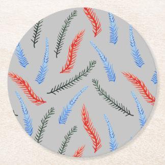 枝円形のコースター ラウンドペーパーコースター