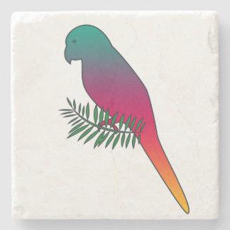 枝大理石の石のコースターのカラフルな鳥 ストーンコースター