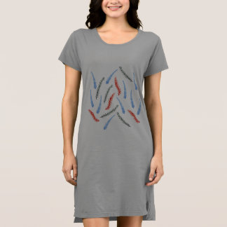 枝女性のTシャツの服 ドレス