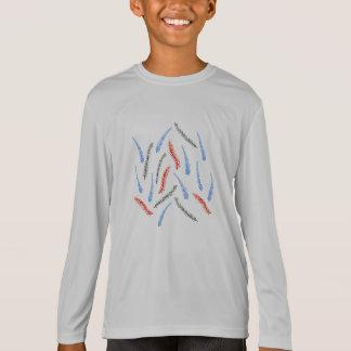 枝子供のスポーツの長袖のTシャツ Tシャツ