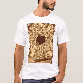 枝編み細工品によって編まれる星形五角形 Tシャツ
