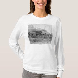 枯れ木およびデラウェア州製錬所の写真 Tシャツ