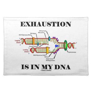 枯渇は私のDNA (DNAの写し)にあります ランチョンマット
