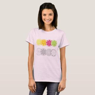 柑橘類が付いているデザイナーヴィンテージのTシャツ Tシャツ