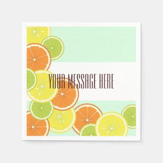 柑橘類のかわいくモダンな夏のパーティー スタンダードカクテルナプキン