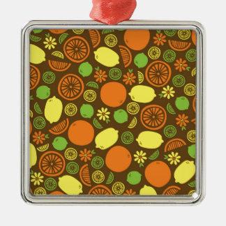 柑橘類のしぶき メタルオーナメント