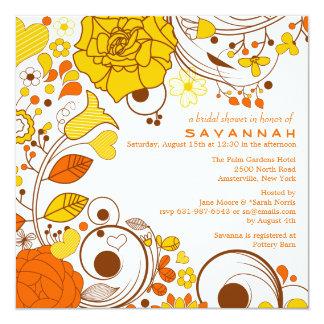 柑橘類のねじれの招待状 カード
