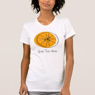 柑橘類のオレンジ「あなたの文字」の女性」Tシャツ Tシャツ