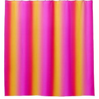 柑橘類のストライプのなシャワー・カーテン シャワーカーテン