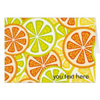 柑橘類のデザイン カード