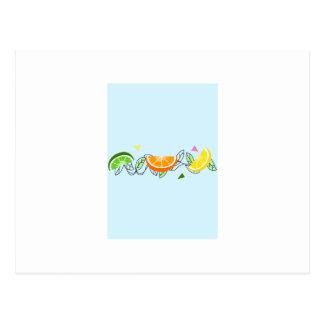 柑橘類のボーダー ポストカード