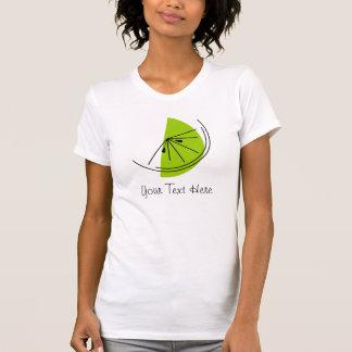 柑橘類のライム「あなたの文字」の女性」Tシャツ Tシャツ