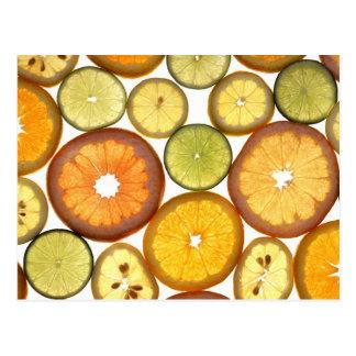 柑橘類の切れの郵便はがき ポストカード