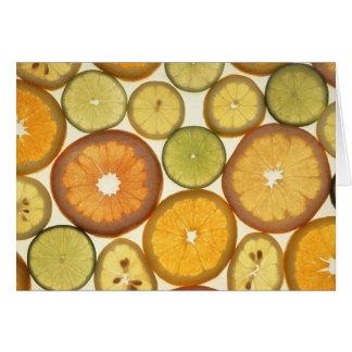 柑橘類の切れ カード