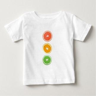 柑橘類の切れ ベビーTシャツ