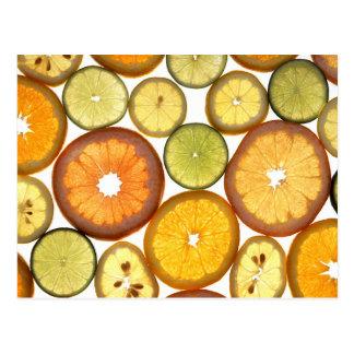 柑橘類の切れ ポストカード