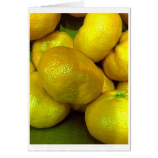 柑橘類の南瓜 カード
