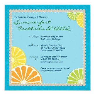 柑橘類の夏のパーティー カード